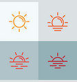 sun icons collection line st vector image vector image