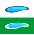 swimming pool logo perspective pool vector image vector image