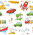 Transportation pattern vector image vector image