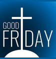 card to good friday vector image