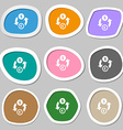 Currency exchange icon symbols Multicolored paper vector image