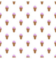ice cream summer pattern seamless vector image