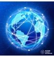 Network globe concept vector image