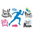 running marathon logo jogging emblems label and vector image