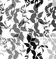 Black flowers on white background Seamless pattern vector image