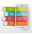 Infographics mobile concept vector image