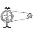 A cogwheel vector image vector image