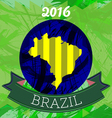 Abstract Brazil 2016 design with map of the countr vector image vector image