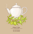 almond tea vector image vector image