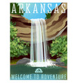 arkansas travel poster or sticker vector image vector image