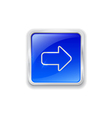 Arrow icon on blue button vector image vector image