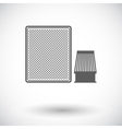 Automotive filter icon vector image