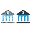 bank building composition of dollars vector image vector image