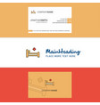beautiful hospital bed logo and business card vector image