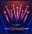beautiful show lights background vector image vector image