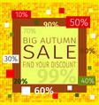 big autumn sale find discount promotional sale vector image vector image