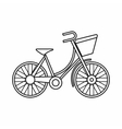 Bike with luggage icon outline style vector image vector image