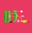 bill dollar money with rope isolated icon vector image