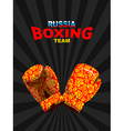 Boxing gloves Russian traditional ornament vector image vector image