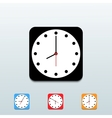 clock icon set on blue background Eps10 vector image vector image