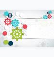 cogwheel hi-tech digital technology and vector image vector image