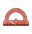 color crayon stripe cartoon red rule conveyor for vector image vector image