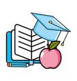 cute notebook cartoon vector image