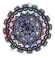 dreamcatcher manadala on watercolor background vector image vector image