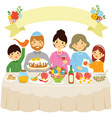 family on rosh hashanah vector image