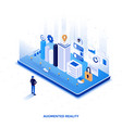 flat color modern isometric design - augmented vector image vector image
