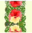 floral vertical border seamless background with vector image