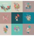 flower bouquet collection botanical floral decor vector image vector image