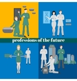 Future professions set Futuristic occupation vector image vector image