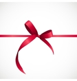 Gift Card with Pink Ribbon and Bow vector image vector image