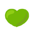 green heart hand draw texture isolated on white vector image