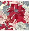 Hand-drawn flowers of dahlia vector image