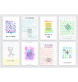 hand drawn watercolor set cards vector image