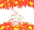 Happy mothers day with sunflowers and butterflies vector image vector image