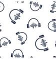 headphone headset icon seamless pattern vector image