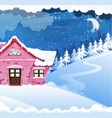 house covered with snow vector image vector image
