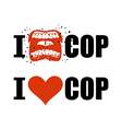 I hate cop I love police shout symbol of hatred vector image vector image