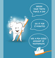 instruction for kids how to brush your teeth vector image vector image