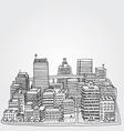 Just a Sketch of a Big City vector image vector image