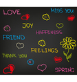 Love happiness friend vector image vector image