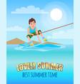 love summer best summertime kitesurfing sport vector image vector image