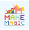 Make magic unicorn vector image vector image
