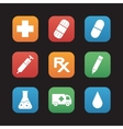 Medical center flat design icons set vector image vector image