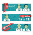 medicine and health banners set vector image vector image