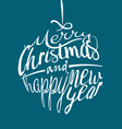 Merry Christmas ball lettering vector image vector image