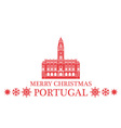 Merry Christmas Portugal vector image